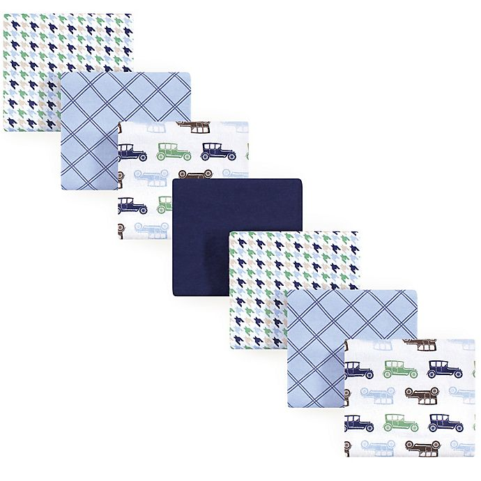 Alternate image 1 for Hudson Baby® 7-Pack Flannel Receiving Blankets in Blue