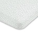 ED Ellen DeGeneres Painterly Floral Dot Fitted Crib Sheet in Grey
