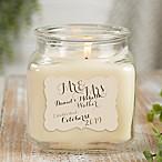 Personalized Mr. & Mrs. Vanilla Bean Candle Jar- Small