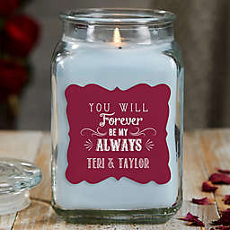 Love Quotes Personalized Crystal Waters Candle Jar