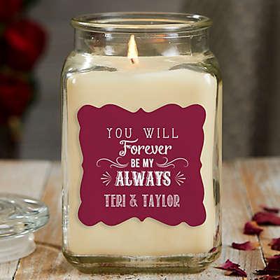 Love Quotes 18 oz. Vanilla Candle Jar