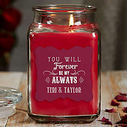 Love Quotes Personalized Cinnamon Spice Candle Jar