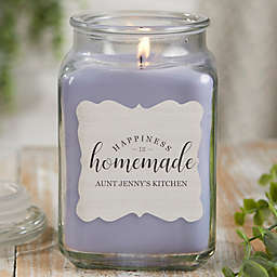 Happiness Is Homemade Personalized Lilac Minuet Candle Jar