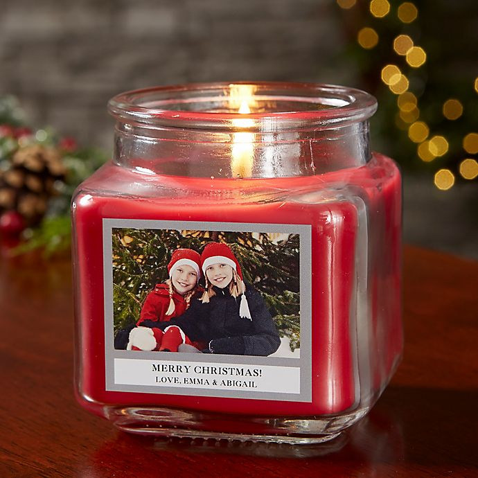 Alternate image 1 for Picture Perfect Holiday Personalized Cinnamon Spice Candle Jar