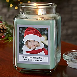 Picture Perfect Holiday Personalized Eucalyptus Spa Candle Jar Collection