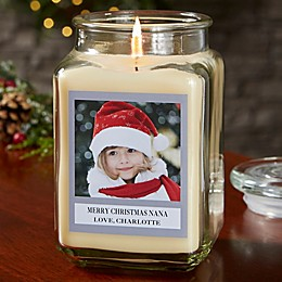 Picture Perfect Holiday Personalized Vanilla Bean Candle Jar Collection