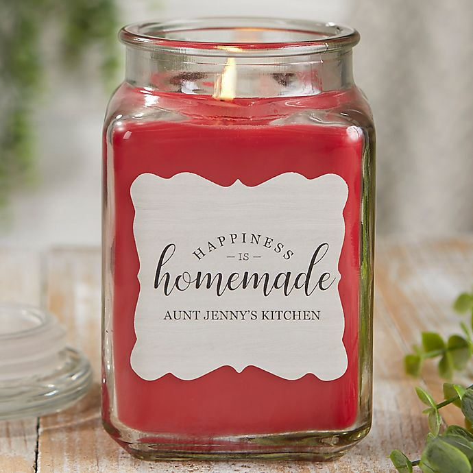 Alternate image 1 for Happiness Is Homemade Personalized Cinnamon Spice Candle Jar
