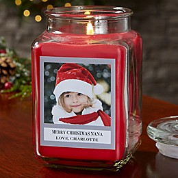 Picture Perfect Holiday Personalized Cinnamon Spice Candle Jar Collection
