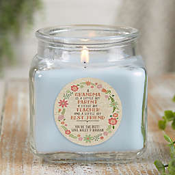 My Grandma, My Friend Personalized Crystal Waters Candle Jar- Small