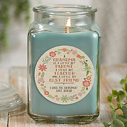 My Grandma, My Friend Personalized Eucalyptus Spa Candle Jar Collection