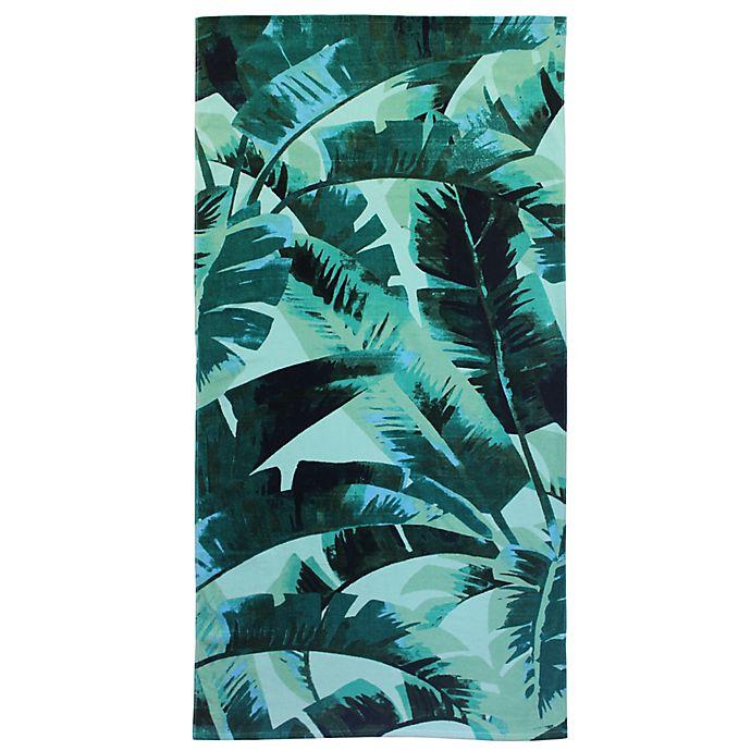 Alternate image 1 for Destination Summer Palm Leaves Beach Towel