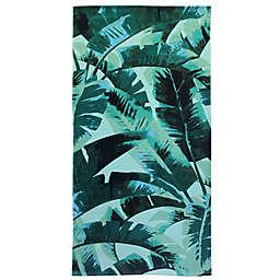Destination Summer Palm Leaves Beach Towel