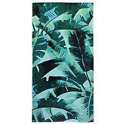 Destination Summer Palm Leaves Beach Towel
