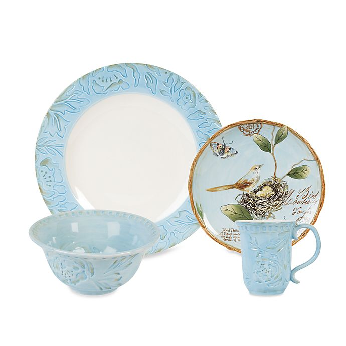 Alternate image 1 for Fitz and Floyd® Toulouse Dinnerware Collection in Blue
