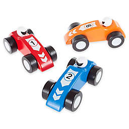 Wooden 3-Piece Racecar Set