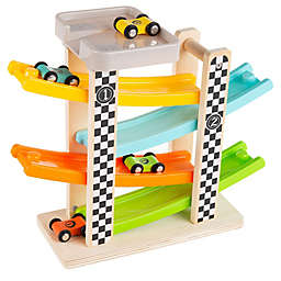 Wooden Race Track and Car Set