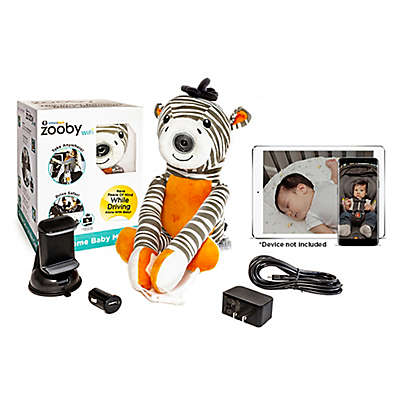 Zooby® by Infanttech® Zebra WiFi Car and Home Baby Video Monitor in Grey