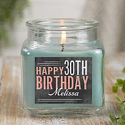 Vintage Birthday Personalized Eucalyptus Spa Candle Jar