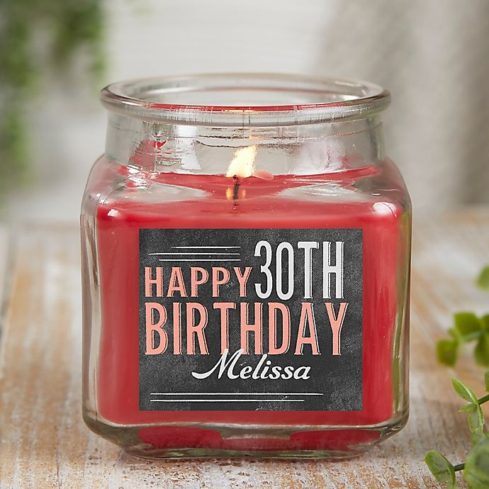 Alternate image 1 for Vintage Birthday Personalized Cinnamon Spice Candle Jar