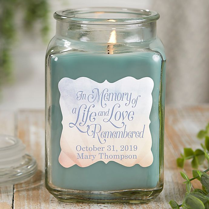 Alternate image 1 for In Memory Personalized Eucalyptus Spa Candle Jar