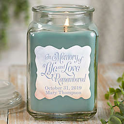 In Memory Personalized Eucalyptus Spa Candle Jar