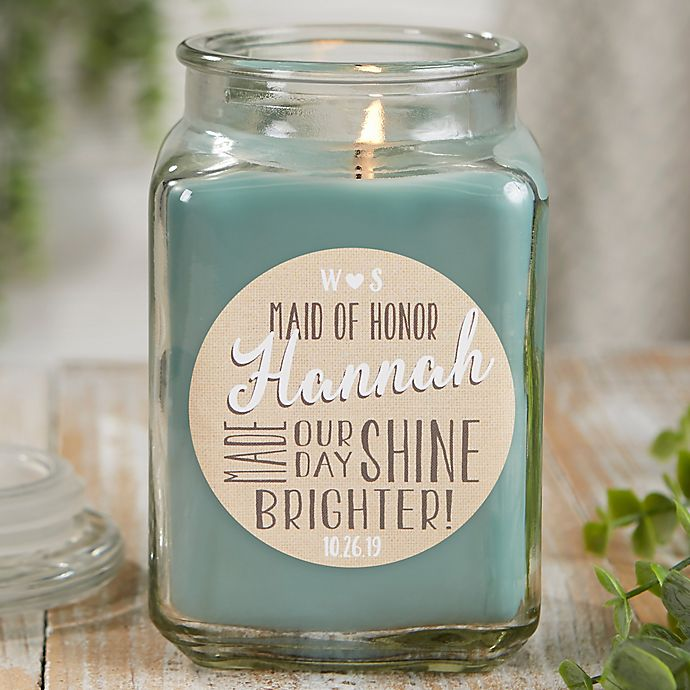 Alternate image 1 for My Bridesmaid Personalized Eucalyptus Spa Candle Jar