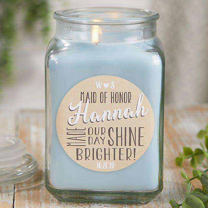 Alternate image 1 for My Bridesmaid Personalized Crystal Waters Candle Jar