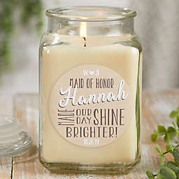 My Bridesmaid Personalized Vanilla Bean Candle Jar Collection