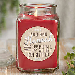 My Bridesmaid Personalized Cinnamon Spice Candle Jar Collection