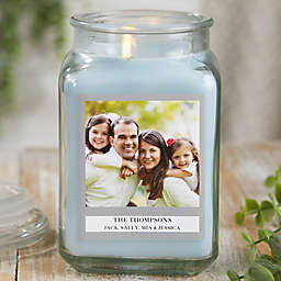 Picture Perfect Personalized Crystal Waters Candle Jar Collection