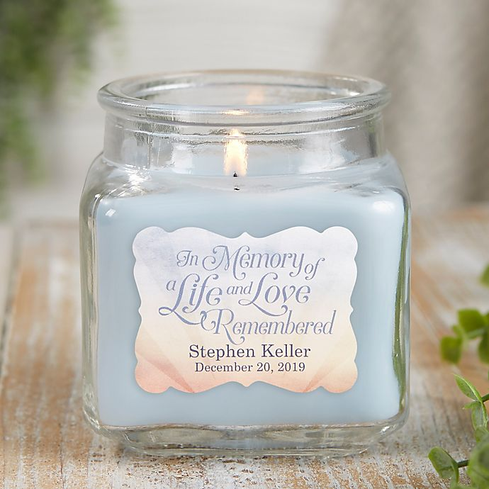 Alternate image 1 for In Memory Personalized Crystal Waters Candle Jar- Small