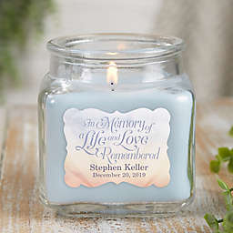 In Memory Personalized Crystal Waters Candle Jar- Small