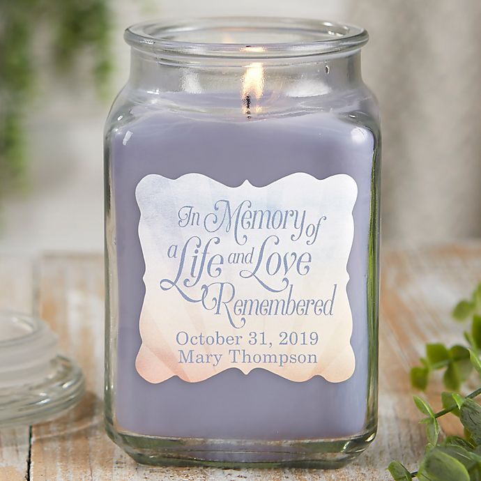 Alternate image 1 for In Memory Personalized Lilac Minuet Candle Jar