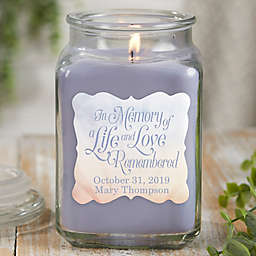 In Memory Personalized Lilac Minuet Candle Jar