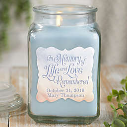 In Memory Personalized Crystal Waters Candle Jar Collection