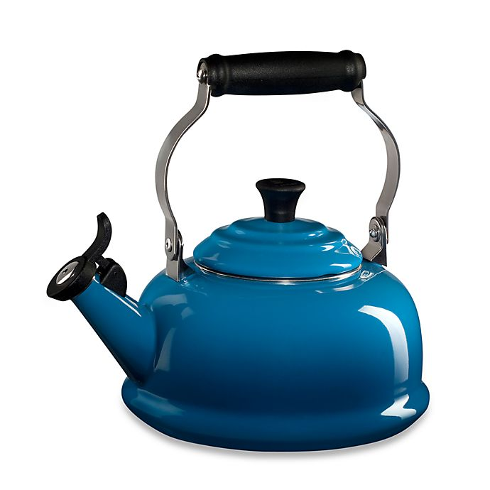 Alternate image 1 for Le Creuset® 1.7 qt. Classic Whistling Tea Kettle in Marseilles