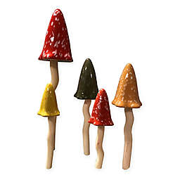 Bosmere Multicolor Tinkling Toadstools (Set of 5)