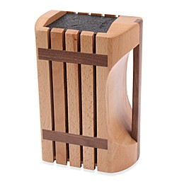 Kapoosh Designer Beachwood Knife Block with Handle