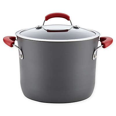 Rachael Ray® 8 qt. Hard-Anodized Nonstick Covered Stock Pot