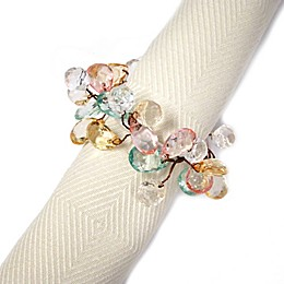 Springtime Sparkle Napkin Rings in Pastel (Set of 4)