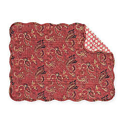C&F Home Ellison Placemats in Red (Set of 6)