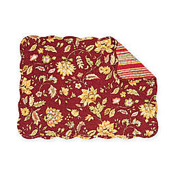 C&F Home Courtney Placemats in Red (Set of 6)