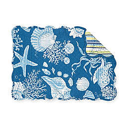 C&F Home Cortez Placemats in Blue (Set of 6)