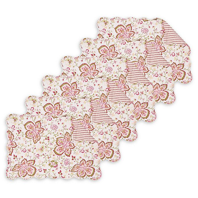 Alternate image 1 for C&F Home Lexie Placemats in Pink (Set of 6)