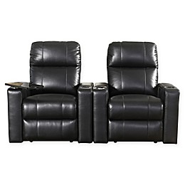 Abbyson Living™ Francis Leather Theatre Recliners in Black (Set of 2)