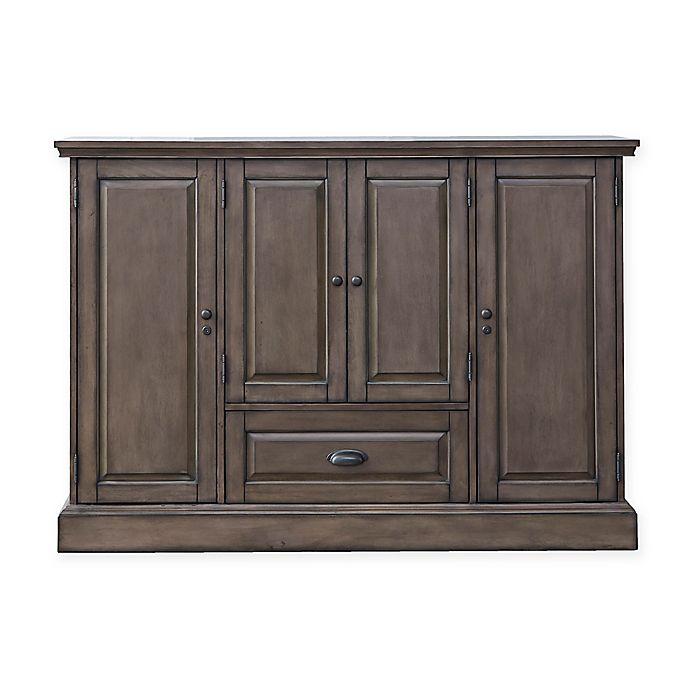 Alternate image 1 for American Heritage Billiards Carlotta Wine Cabinet in Charcoal
