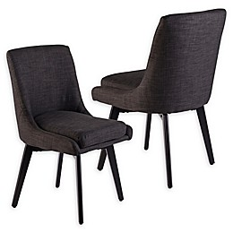 Southern Enterprises Shayla Swivel Dining Chairs (Set of 2)
