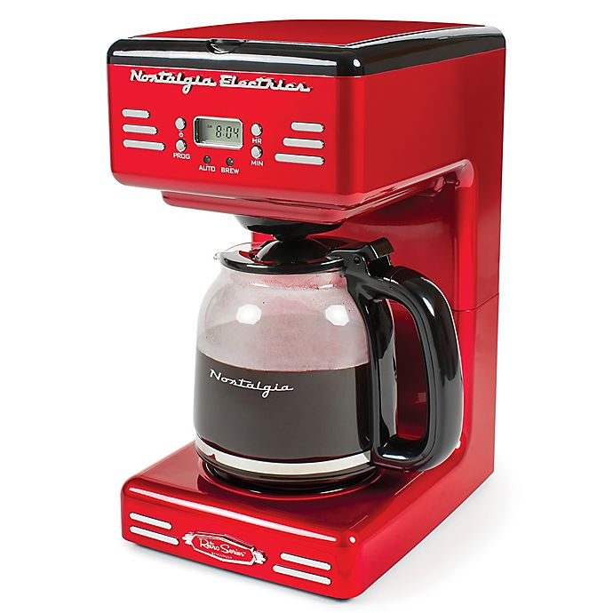 Alternate image 1 for Nostalgia™ Electrics Retro Series RCOF120 Electric Coffee Maker in Red