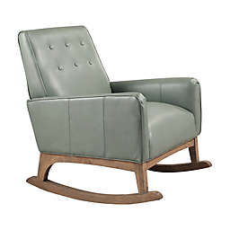 Abbyson Living® Megan Leather Rocker in Mint Green