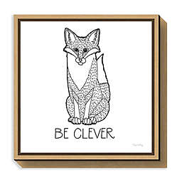 Amanti Art Color the Forest IV Be Clever Framed Canvas Wall Art
